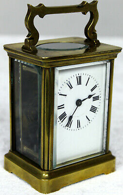 Antique French Corniche Brass Timepiece Carriage Clock Spares Or Repair