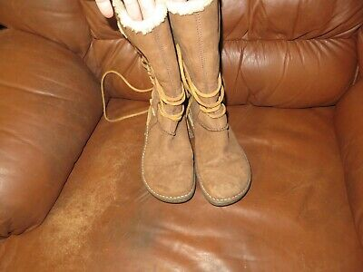 e59bae5cd3b UGG AUSTRALIA CATALINA Boots Tall 1634 Suede Leather Sherling Wrap ...