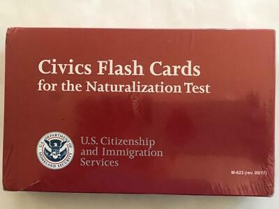 NEW! CIVICS FLASH CARDS FOR THE NATURALIZATION TEST M-623 (rev. 05/17)
