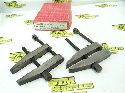 "Nice Pair Of Starrett 3-1/2"" Parallel Clamps Model 161-E"