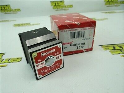 New Starrett Magnetic Base For Indicator Stand Base Only Model 657P