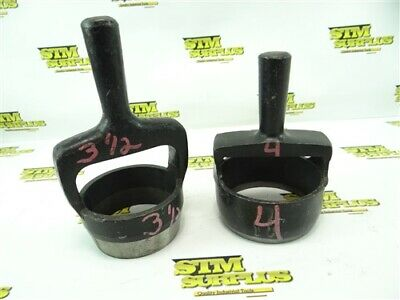 "Pair Of Heavy Duty Arch Punches 3-1/2"" & 4"""