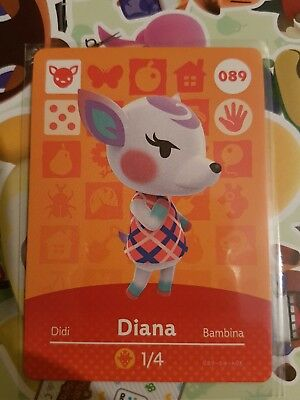 animal crossing new leaf welcome  amiibo card  Diana 89