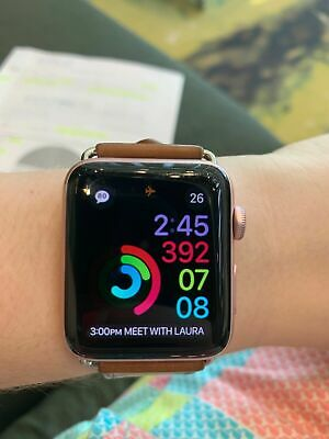 Apple Watch Series 2 42mm Smartwatch with Rose Gold Case and Leather Band