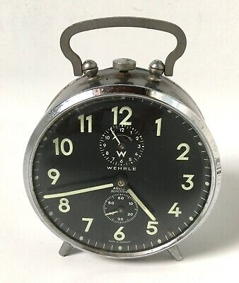 Reveil Marque Wehrle Made In Germany Vintage Clock Collection