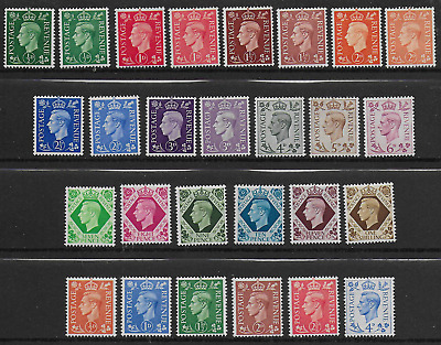 Kg Vi - Complete Collection Of King George Vi Definitives - Unmounted Mint - 27
