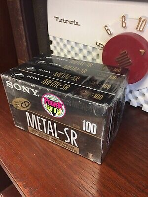 Old Store Stock Sony Sealed Metal-SR Type IV 100 Blank Recording Tape 4 Pack