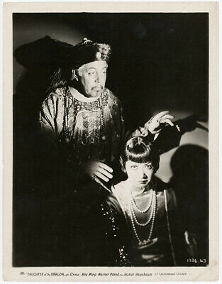 Anna May Wong, Warner Oland Daughter of the Dragon 1931 Vintage Photograph