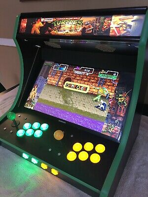 Arcade Bar top Machine Cabinet TMNT Themed. EXTRA WIDE!! Games Galore Retro Game