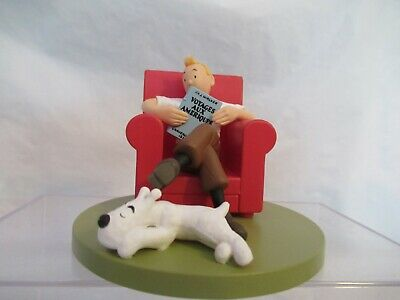 Moulinsart Tintin At Home Plastic Figurine Boxed