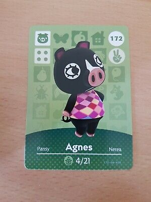 animal crossing new leaf welcome  amiibo card agnes 172