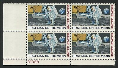 1969 APOLLO 11 FIRST MAN ON THE MOON Neil Armstrong 50th Anniversary Stamp Block
