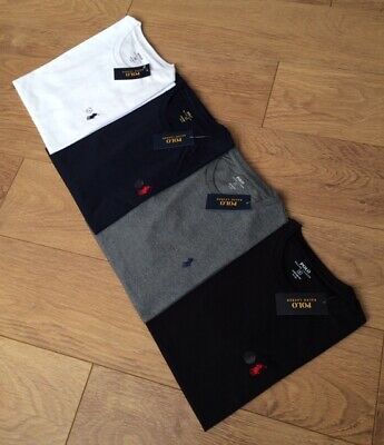 Mens Polo Ralph Lauren Short Sleeve Crew Neck Custom Fit T-Shirts. (All Sizes)