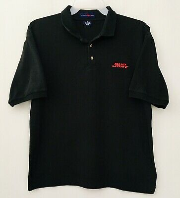 Bud Light Polo Shirt Budweiser Beer Embroidered Red Logo Size XL Black