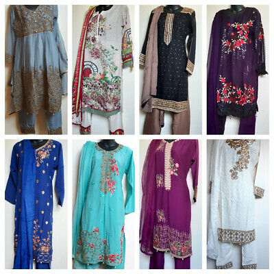 Indian Pakistani Salwar Kameez Shalwar Stitched 15 designs available  SMALL