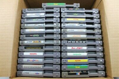 NES Nintendo Lot Of 25 Games - TMNT, Dr. Mario, Double Dribble