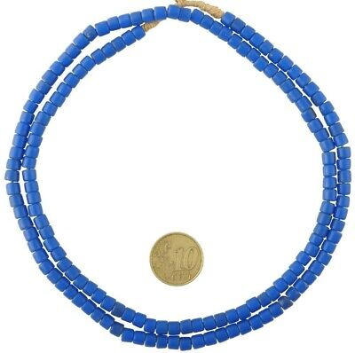 Old African trade beads Bohemian Czech glass beads tile strand necklace Ghana