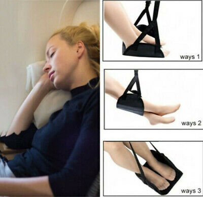 Comfy Hanger Travel Airplane Footrest Hammock Made Premium Memory Foam Foot SM