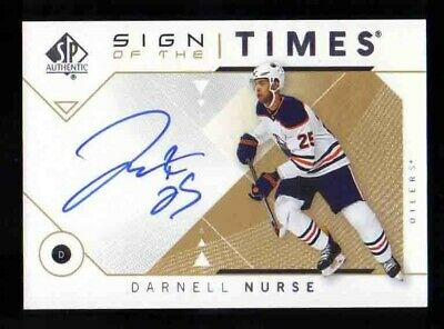 2018-19 Upper Deck SP Authentic Sign of the Times DARNELL NURSE Auto Oilers
