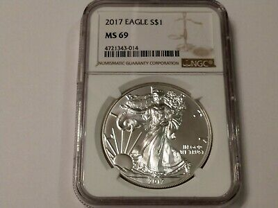 2017 American Silver Eagle. NGC MS69