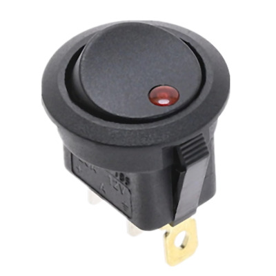 12V Red Led Round Rocker Switch 3 pin ON-OFF Car Dash Dashboard. 0213