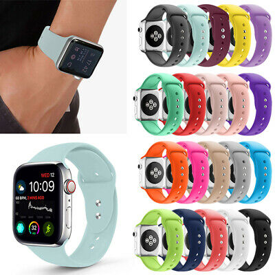 Recambio Silicona Pulsera  Apple Watch Serier 2 3 4 Colore Correa 38 40 42 44MM