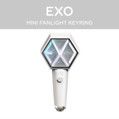 PRE-ORDER EXO FAN LIGHT LIGHTSTICK MINI KEYRING SM Official MD + Tracking No.