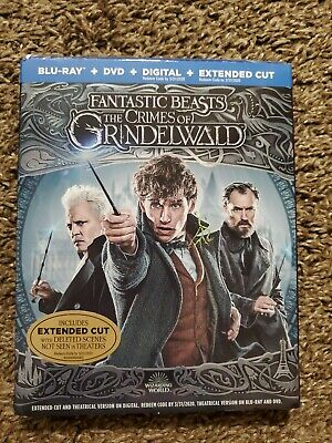 Fantastic Beasts The Crimes of Grindelwald Blu-ray+DVD+Digital Extended Cut NEW