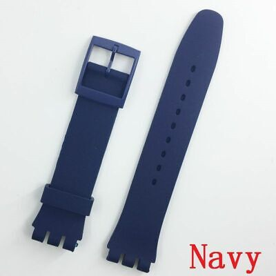 Silicone Wristband For Swatch Rubber Buckle Strap Accessories New 16 To 20 MM