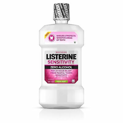 Listerine Sensitivity Mouthwash, 24-HR Tooth Sensitivity Relief & Protection,...