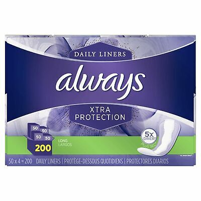 Always 57115 Extra Protection Pantiliners - 200 Count