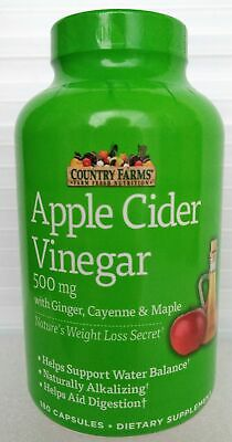 Country Farms Apple Cider Vinegar 500mg 180 capsules with Ginger, Cayenne and...