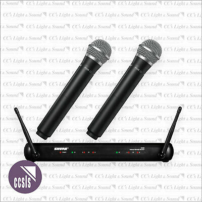 Shure SVX288PG58 2-Ch. Wireless Microphone System with 2 x Handheld PG58 Mics.