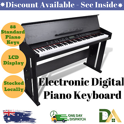 Classic 88 Standard Size Keys Electronic Digital Music Piano Keyboard with Stand