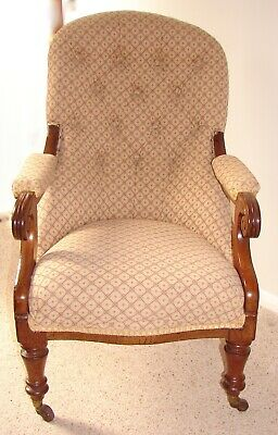 Victorian antique upholstered armchair OFFERS