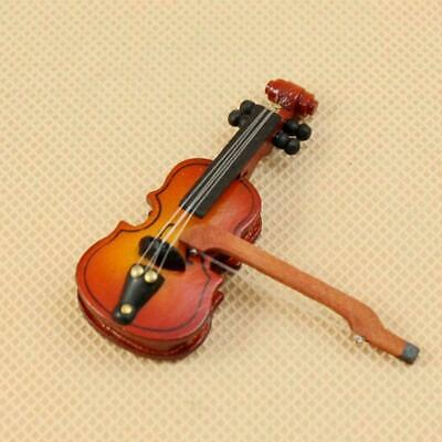 Dollhouse Miniature Mini Violin Instruments For Doll Room New Accessories S A1D5