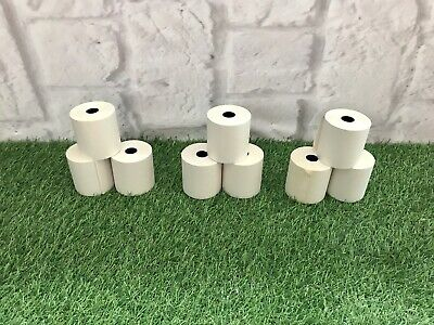 57mm x 57mm 57x57mm Single Ply Paper& Till Printer Receipt Rolls  X 9