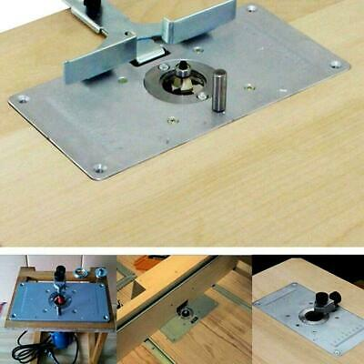 For Woodworking Benches Aluminum Router Table Insert 4 Screws With Plate Ri P9K3