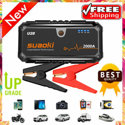 12V 16000mAh Auto voiture Jump Starter Booster Chargeur Urgence Batterie 1200A
