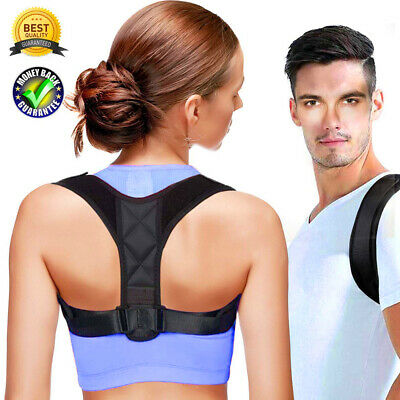 Adjustable Posture Corrector Clavicle Back Support Therapy Brace Belt Men Women