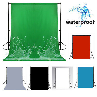 Fabric Photo Studio Background Stand Kit White Gray Green Blue Screen Backdrop