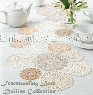 Freestanding Lace Doilies Collection - Machine Embroidery Designs On Cd Or Usb