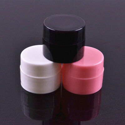 5Pcs Empty Nail Art Gel Polish Bottle Face Cream Containers Storage Sample Jar