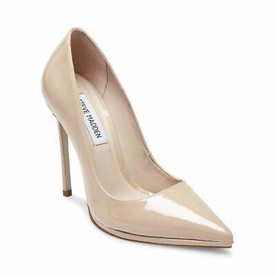 8a1ca818f13 STEVE MADDEN GIRL Nude Pumps 10 M Blush Round Toe Patent Stiletto ...