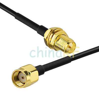 RP-SMA plug to RP-SMA Female RF Jumper pigtail cable RG174 20cm for WiFi Router