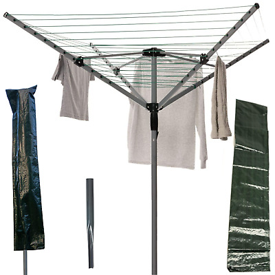 Rotary Airer Clothes Line  Heavy Duty For Outdoors Retractable Washing Line