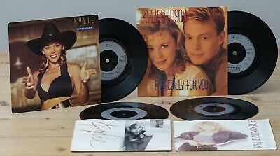 """Kylie Minogue 7"""" Singles Lot Of 4 -  I Should Be So Lucky/Word Is Out"""