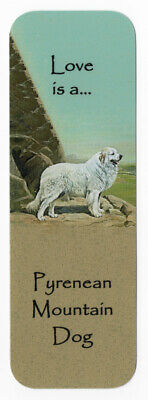 Pyrenean Mountain Dog Beautiful Dog Bookmark Same Image Both Sides Great Gift