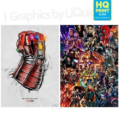 22 Marvel Cinematic Universe Endgame We Love You 3000 Poster | A4 A3 A2 A1 |