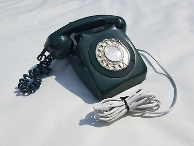 ROTARY DIAL TELEPHONE 1971 (746F) Green. Converted